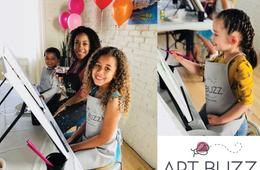 Wine & Design Art Buzz Kids Painting Party
