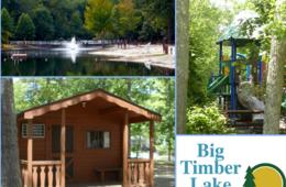 $95+ for 2-Night Cabin Getaway at Big Timber Lake Camping Resort PLUS Mini Golf for the Whole Family! Near Avalon Beach, NJ (Up to 46% Off)