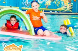 $95 for Swim Lesson Package at Goldfish Swim School in Owings Mills - Includes 4 Lessons, Annual Registration Fee, Beach Towel and Goggles - $25 Deposit Paid Now (36% Off!)