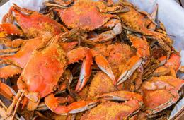 1.5 Dozen Large #1 Male Steamed Maryland Crabs + Supplies from Cameron's Seafood