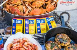 Ultimate Crab Feast! Half Bushel of Steamed MD Crabs, Steamed Shrimp, Crab Cakes, Crab Bisque & More!