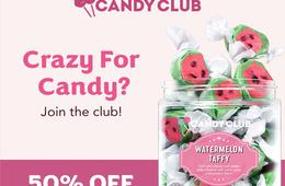 Candy Club: 50% Off & Free Shipping!