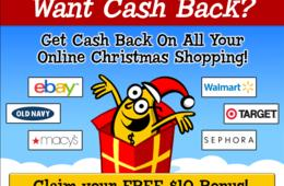 Cash Back on Your Online Christmas Shopping! Join Mr. Rebates FREE + Extra $10 Bonus!