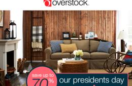 Save Up to 70% Off at Overstock's President's Day Sale!