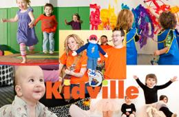 $49 for KIDVILLE Sampler Package - 3 Classes and 5 Playspace Passes - Bethesda or Fallsgrove! (75% Off)