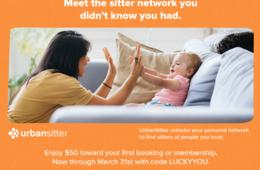Save $50 on Sitters and Nannies with UrbanSitter!