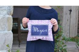 ONE Personalized Pencil or Cosmetic Bag