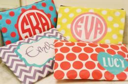 $13 for Personalized Cosmetic Bag - Includes Shipping! ($22 Value - 41% Off) OR $50 for 5! (50% Off)