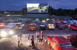 $23 for Drive-In Theatre Family 4-Pack - 2 Adults, 2 Kids, Popcorn & Drinks (31% Off)