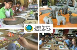 $225 for Jimmy Potters Studio & Workshop Pottery Wheel Camp for Ages 8-12 in Fairfax ($395 Value - 44% Off)