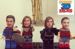2 Personalized 3D Figure Heads for Lego Mini Figures from Funky 3D Faces
