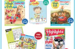 $29.99 for One-Year Highlights Magazine Subscription + FREE Hidden Pictures Calendar Bonus! Choose from Four Titles for Ages 0-12 (50% Off Newsstand)