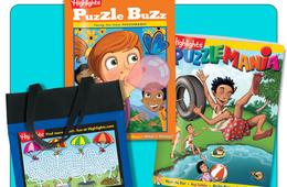 Get 2 Free Books + Free Tote from Highlights Puzzle Club