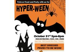 Hyper Kidz Hyper-Ween Indoor Trick-or-Treating Event - ADULTS FREE!