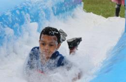 $35+ for 1 Adult & 1 Child Admission to the Double Bubble Fun Run for Ages 2+ Sept. 10-11 at Crumland Farms in Frederick ($70 Value - 50% Off)