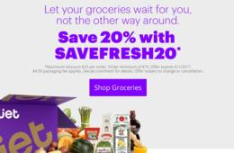 20% Off Fresh Food and Groceries Delivered Right to Your Door FAST From Jet
