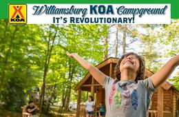 Williamsburg KOA Cabin or Camping Getaway