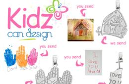 $26 for Custom Sterling-Silver Pendant or Signature Pendant Option from KidzCanDesign – Includes Shipping! (80% Off - $130 Value)