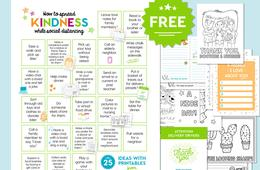 FREE Printable Packet: 25 Ways to Spread Kindness While Social Distancing