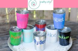 $12.99 for Kids Mini Personalized Tumbler - Keeps Drinks HOT or COLD! ($29.99 Value – 57% Off)