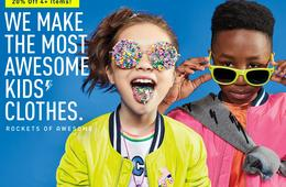 ROCKETS OF AWESOME - 20% Off 4+ Items PLUS Win $500 Kids' Shopping Spree