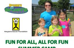$184 for The Discovery Sports Center's Fun For All, All For Fun Camp for Ages 3-13 in Boyds ($230 Value - 20% Off)