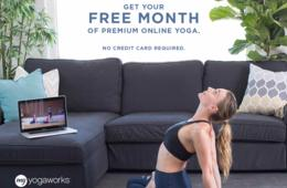 FREE Month of Unlimited Premium Online Yoga Classes From MyYogaWorks - No Credit Card Required!