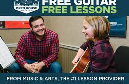 FREE GUITAR When You Sign Up for Lessons at Music & Arts During Open House Weekend!