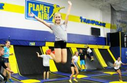 One Pass for Unlimited Trampoline Park, Ropes & Zip Line Valid Any Day at Planet Air Sports