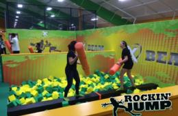 $12 for 1 Hour BRAND NEW ROCKIN' JUMP TRAMPOLINE PARK Weekday Open Jump Session in Towson (25% Off)