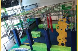 Rebounderz All-Day Weekday Unlimited Jump Pass and NEW Ninja Warrior Course