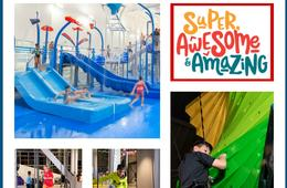 NEW Super, Awesome & Amazing - Indoor Waterpark, Ninja Warrior Course, Nerf Battle Zone, Trampolines & More!