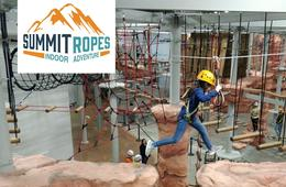 Summit Ropes Indoor Adventure One-Hour 'Try It' Pass: AGES 7 AND UP