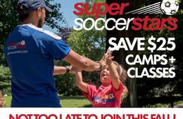 $15 Off Super Soccer Stars Classes