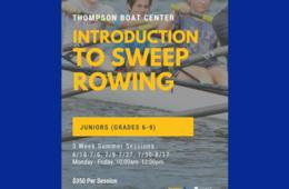 3-Week Introduction to Sweep Rowing Camp