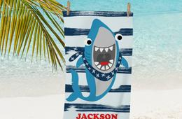 Jawsome Deal Alert! Personalized Shark Beach Towel