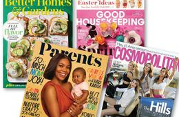 Better Homes & Gardens, Cosmopolitan, Good Housekeeping or Parents Magazine Subscription