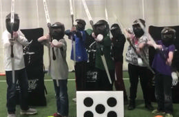 SuperNova Archery Tag Birthday Party