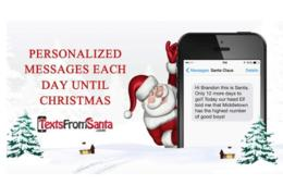 $5 for Daily Personalized Santa Texts or Emails from Dec.1-25 Including Proof He Was in Your House! ($50% Off)