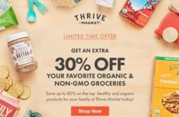 EXCLUSIVE SAVINGS: Extra 30% Off Wholesale Organic Groceries Shipped to Your Home!