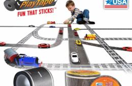 $15 for 2 Rolls of Award-Winning PlayTape - Make a Road Anywhere! 6 Fun Designs + Shipping Included! ($20.50 Value - 27% Off)