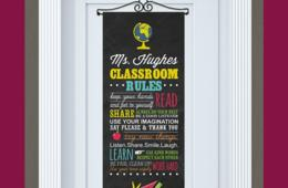 $14.99 for Personalized Classroom Rules Door Banner - Perfect Teacher Gift! (35% Off)