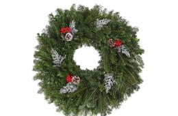 40% Off Fresh Christmas Wreaths - Plain or Decorated (Starting at $23.97)