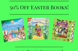 50% Off Easter Books and FREE SHIPPING!