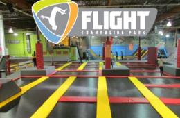 Two 60-Minute Open Jump Passes + Flight Socks at Flight Trampoline Park