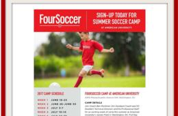 $212+ for FourSoccer Camp for Ages 5 to 15 - American University in DC (Up to $75 Off)