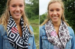 $15 for Monogrammed Infinity Scarf – Includes Shipping! Perfect for Fall! ($27 Value - 45% Off)