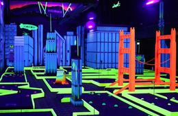 Glowzone Interactive Activites - Bazooka Ball, Ninja Warrior Course, Kids Jungle Gym & More!