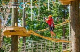 $199+ for STAY & PLAY Package for FOUR - Ropes Adventure Course and Cabin Getaway at Harpers Ferry Adventure Center - Ages 5+ (33% Off)