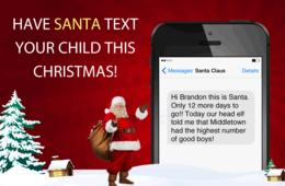 $5 for Daily Personalized Santa Texts or Emails from Dec. 1-25 Including Proof He Was in Your House! ($50% Off)